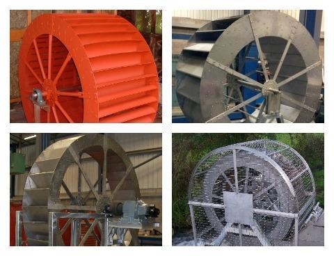 Колесо для водяной мельницы из алюминия или нержавеющей стали