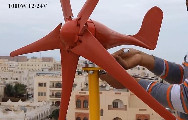 Wind turbine generator 1000W 12/24V